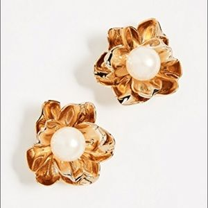kate spade Jewelry - Kate Spade ♠️ flower and pearl statement earrings